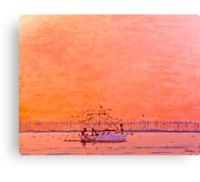 Gulf Fish Boat Canvas Print