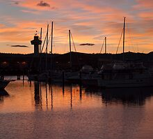Sunrise at the docks, Hobart, July 2010 by Odille Esmonde-Morgan