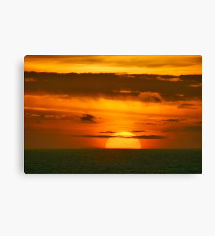 Dropping in the Water Canvas Print