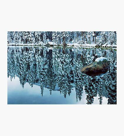Snow Mirror Photographic Print