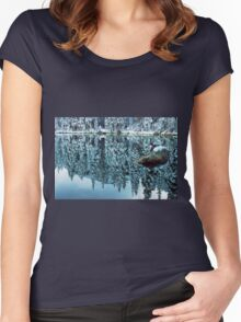 Snow Mirror Women's Fitted Scoop T-Shirt