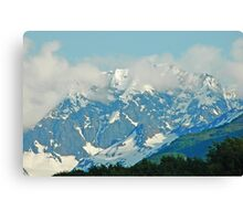 High On A Mountain Top Canvas Print