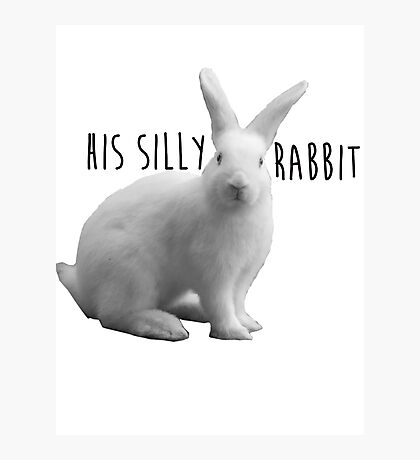 His silly rabbit Photographic Print