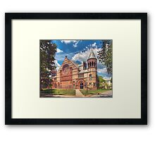 Collage campus, Princeton NJ Framed Print