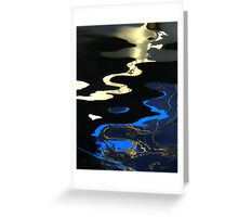 Blue,  Black and Gold Greeting Card