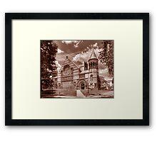 B&W Collage campus, Princeton NJ Framed Print