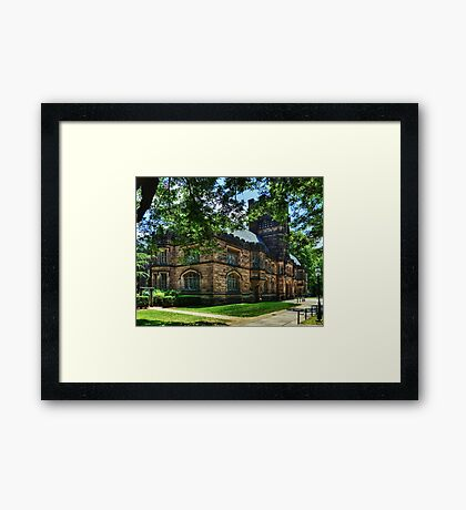 One of many beautiful buildings in Princeton. Framed Print