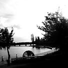 The Globe, Lake Burley Griffin, Canberra - BW by tmac
