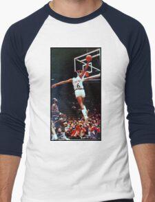 Dr. J Slam Dunk Men's Baseball ¾ T-Shirt