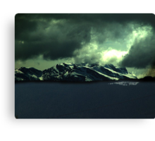 Storm Over Mountains Canvas Print