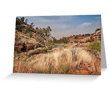 Tupul landscape, central Australia Greeting Card