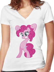 "Pinkie Pie - ""Watch Out!"" Women's Fitted V-Neck T-Shirt"
