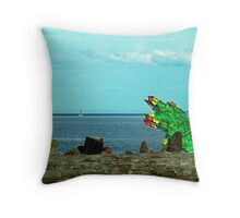 How Green Is My Umbrella Throw Pillow