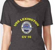 USS Lexington CV 16 Crest for Dark Colors Women's Relaxed Fit T-Shirt