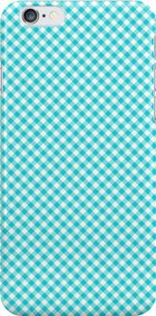 Checkered Blue Gingham iPod Case / Cover / Holder / Protector - Rupydetequila - Baby Blue and Aquamarine Blue by Ruth Fitta-Schulz