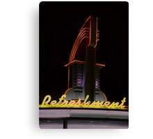 Drive in Movie Lights Canvas Print