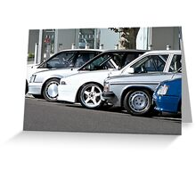 Brock HDT Lined Up Greeting Card