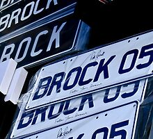 Brock Number Plates by Russell Charters