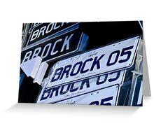 Brock Number Plates Greeting Card