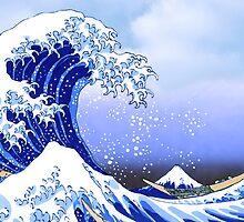 Surf's Up! Great Wave, Hokusai by VintageEraArt