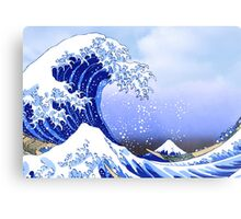 Surf's Up! Great Wave, Hokusai Metal Print