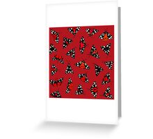 Scarlet Tigers - Red Greeting Card