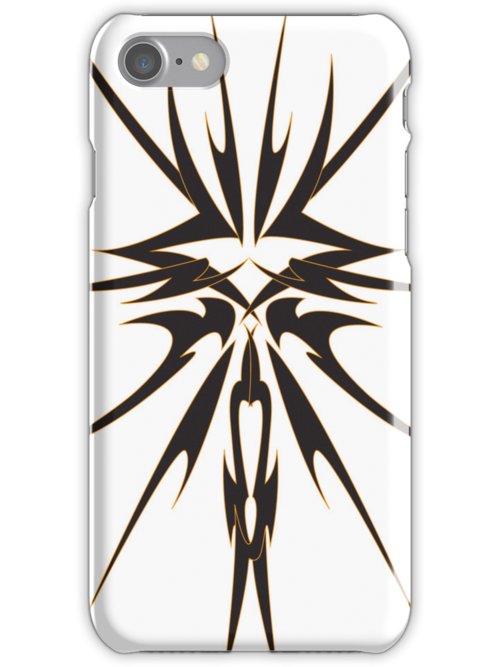 Tribal Design iPhone Case by christopher r peters