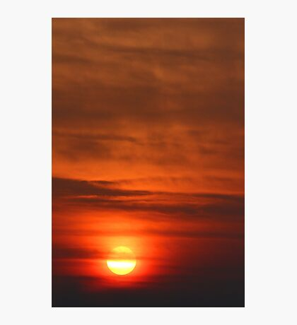 Smoky Sunrise Photographic Print