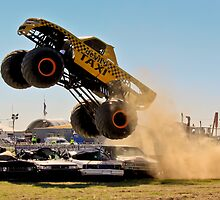 Monster Truck Liftoff by Russell Charters