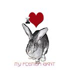 I Love My Flemish Giant Rabbit by THarmonArt