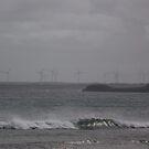 Wind Power Turbines - seen from Marrawah Beach by gaylene