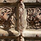 Detail of An Old Wooden Door in Venice. by Michele Filoscia