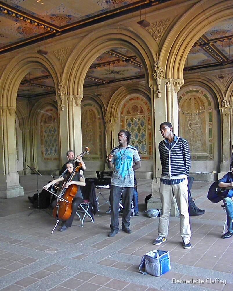Musicians in Central Park by Bernadette Claffey
