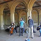 Musicians in Central Park by Bernadette Claffey
