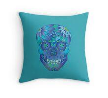 Oceanic Sugar Skull Throw Pillow