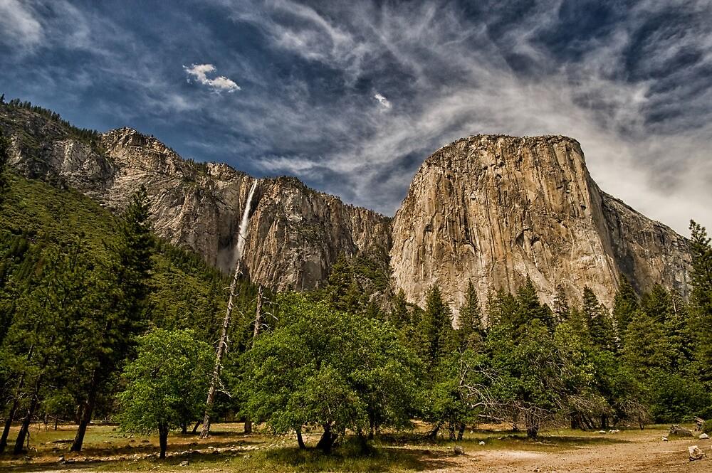 El Cap & Ribbon Falls by Cat Connor