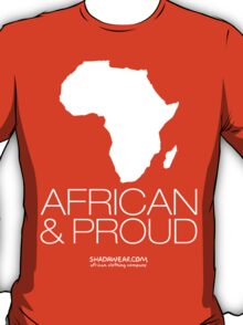 African & proud (white) T-Shirt