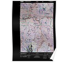 USGS Topo Map Washington State WA Skykomish 20110428 TM Inverted Poster