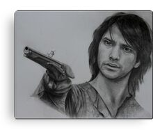 D'Artagnan with pistol Illustration Canvas Print