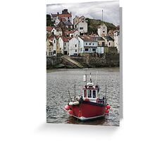 Fishing vessel in Staithes Harbour Greeting Card