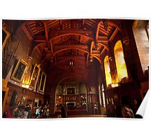Bamburgh Castle Great Hall, Northumberland UK Poster
