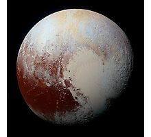 NASA Pluto Color Enhanced Variant 2 Photographic Print