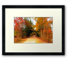 Zooming Through Fall Framed Print
