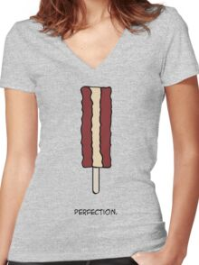 Perfection. Women's Fitted V-Neck T-Shirt