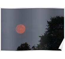 Background of night sky with moon. Poster