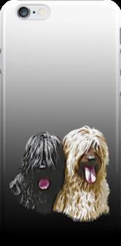 Black & Fawn Briard iPhone Case by BriardRescue