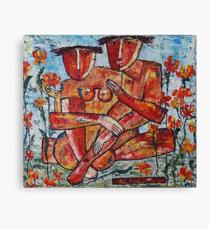 """Adam and Eve"" Canvas Print"