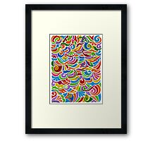 Doodle Fantasy - Brush And Gouache Framed Print