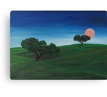 """""""Landscape with moon""""  Canvas Print"""