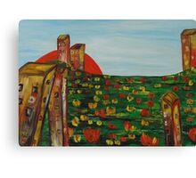 """Landscape with flowers"" Canvas Print"